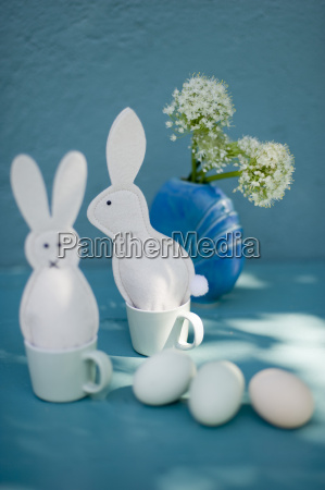 eastern decoration easter bunnies of felt