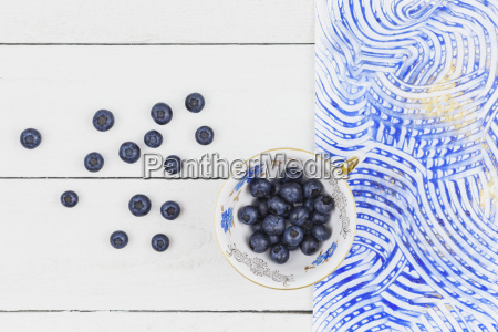collectors cup with blueberries colorful paste