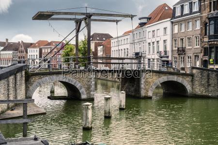 belgium flanders bruges old drawbridge