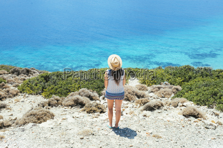 greece cyclades islands amorgos woman with