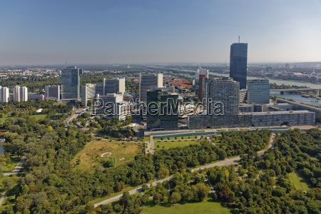 austria vienna view to donau city