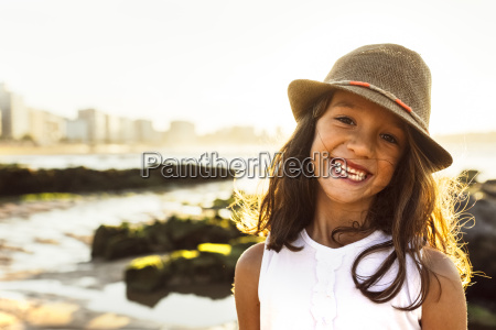 portrait of a smiling girl on
