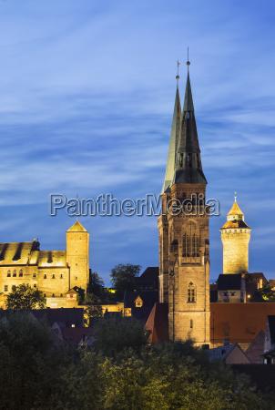 germany nuremberg view to nuremberg castle