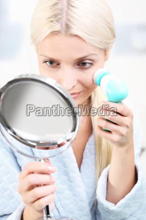 a facial brush