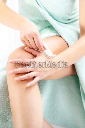 waxing honeycomb with wax depilaci legs