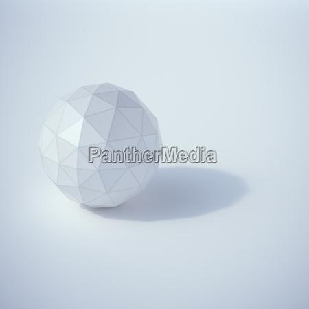 low poly sphere 3d rendering