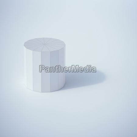 low poly cylinder 3d rendering