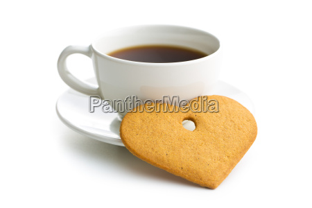 gingerbread hearts and cup of coffee