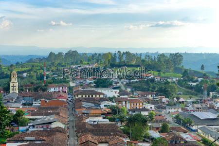 cityscape of salento colombia