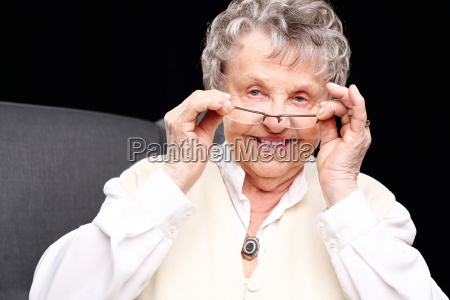 smiling elderly woman grandmother cheerful old
