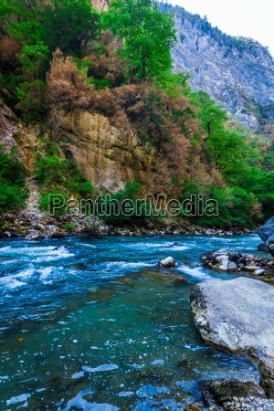 beautiful view of mountain river in