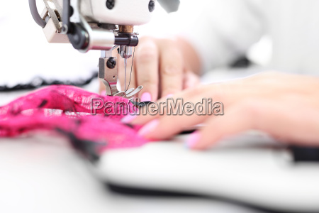 production plant sewing room clothing production