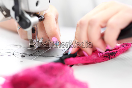 seamstress on the machine production of