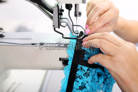 sewing underwear sewing on the machine