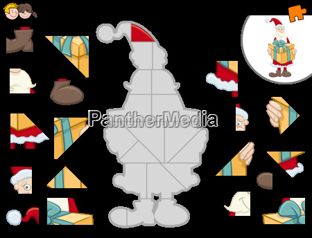 jigsaw puzzle with santa claus