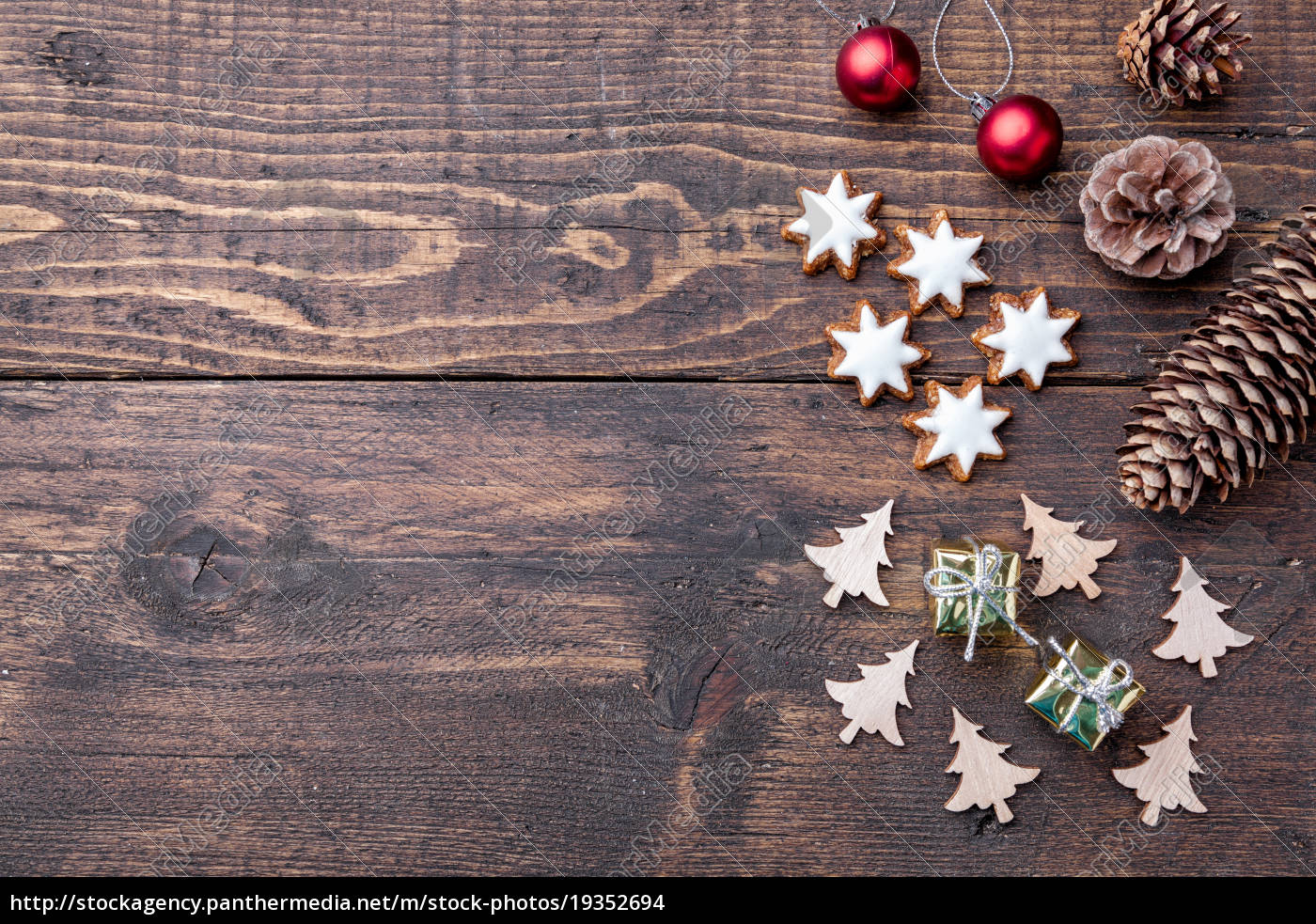 Christmas Wood Background.Royalty Free Image 19352694 Christmas Decoration On Wooden Background With Copy Space