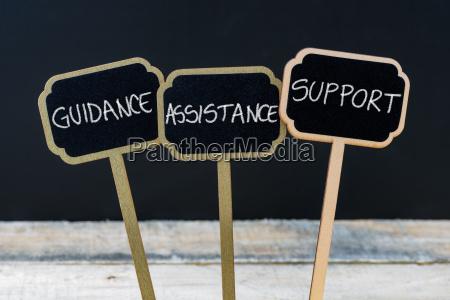 concept message guidance assistance support written