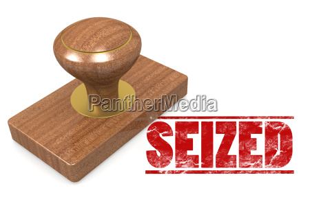 seized wooded seal stamp