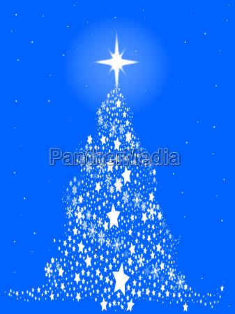 star spangled snowflake christmas tree