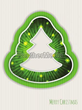 green christmas greeting with bursting christmas