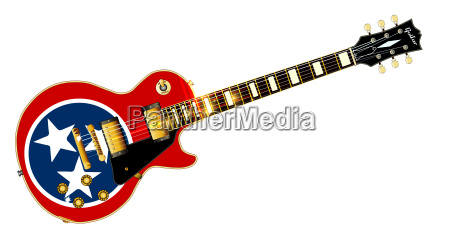 tennessee flag guitar guitar