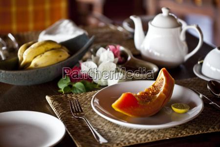 fresh fruit on plate at swaswara