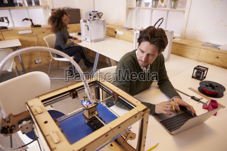 designer printing design using 3d printer