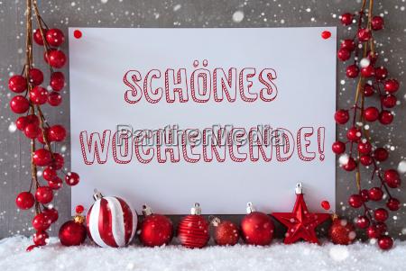 label snowflakes christmas balls schoenes wochenende
