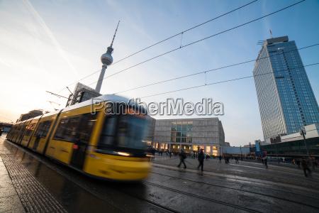 public transport at berlin alexander platz