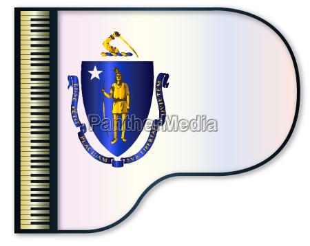 grand piano massachusetts flag
