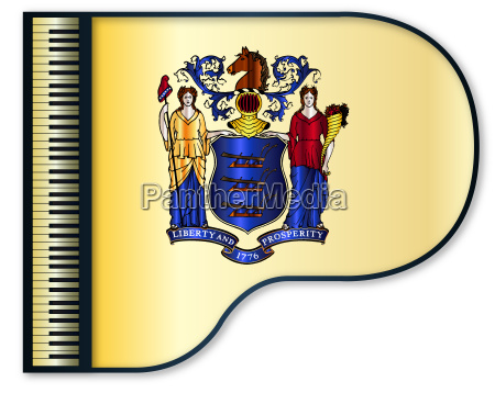grand piano new jersey flag