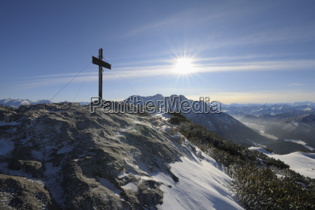 cross at summit steinplatte waidring tyrol