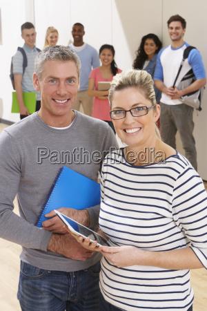 portrait of male and female tutors