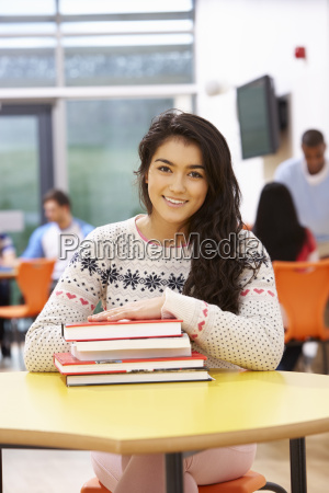 female, teenage, student, in, classroom, with - 19407924