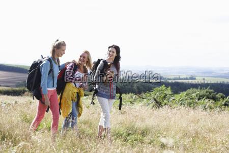group, of, teenage, girls, hiking, in - 19407502