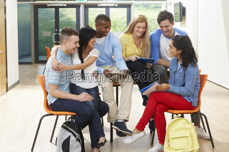 multi-ethnic, group, of, students, in, classroom - 19407650