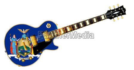 new york state flag guitar