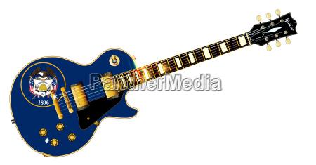 utah state flag guitar