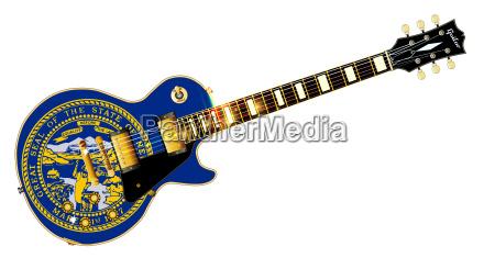 nebraska state flag guitar