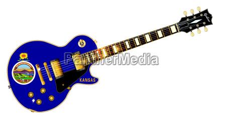 kansas state flag guitar