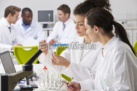 group, of, technicians, working, in, laboratory - 19408084