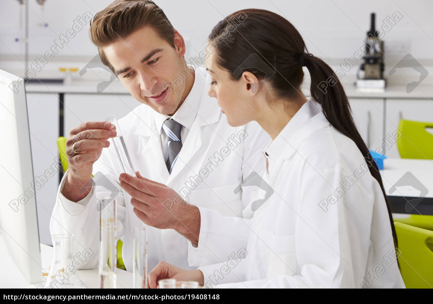 two, technicians, working, in, laboratory - 19408148