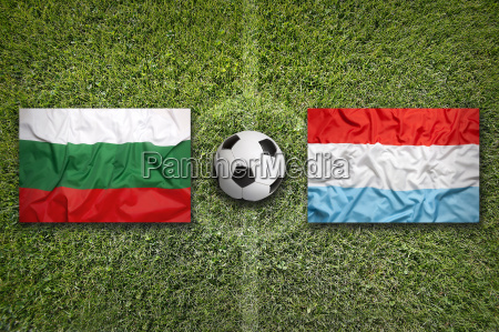 bulgaria vs luxembourg flags on soccer