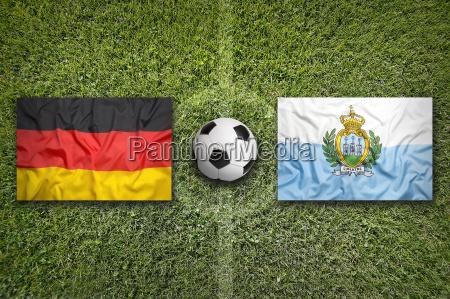 germany vs san marino flags on