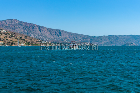 view from the sea on the