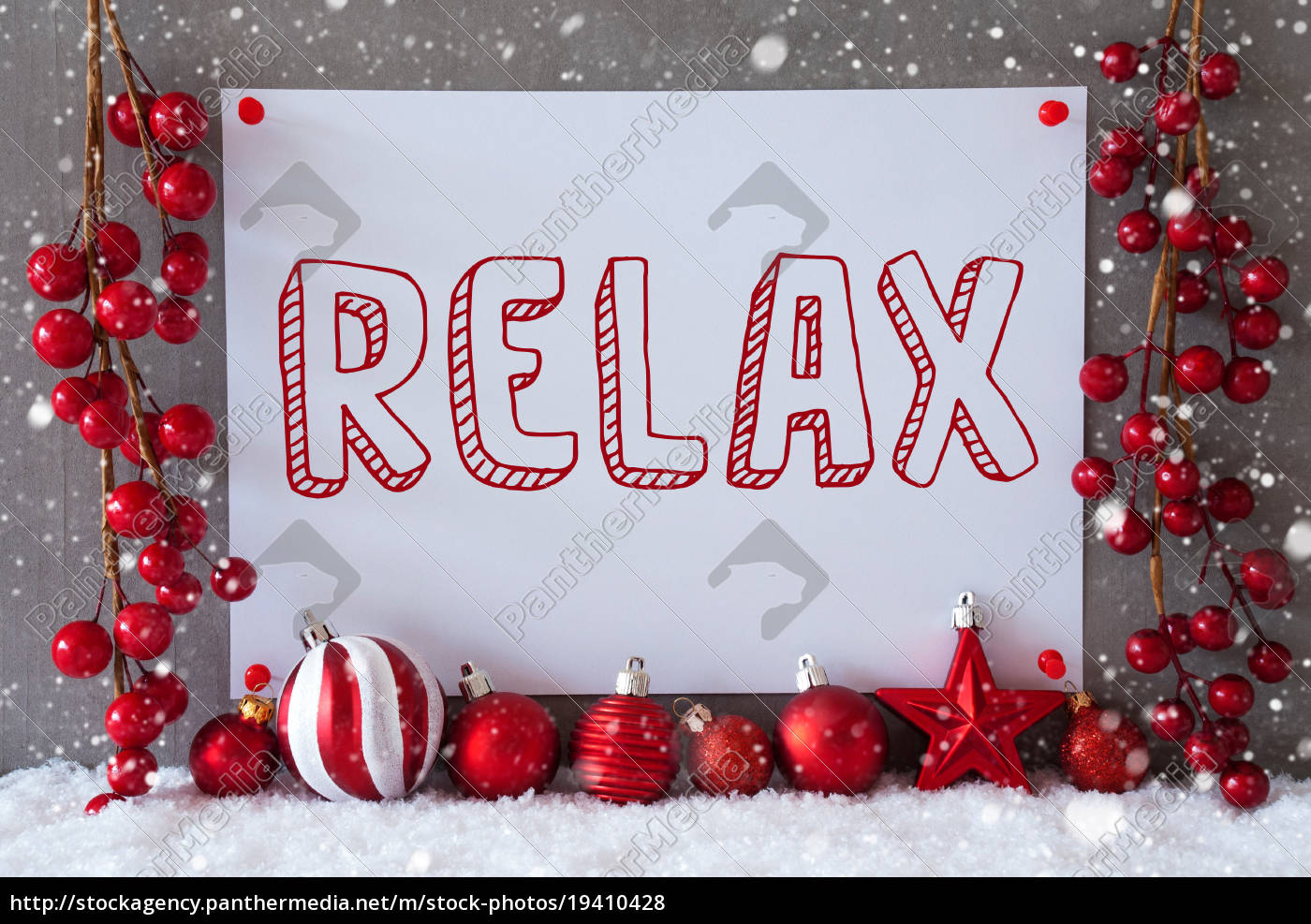 label, , snowflakes, , christmas, balls, , text, relax - 19410428