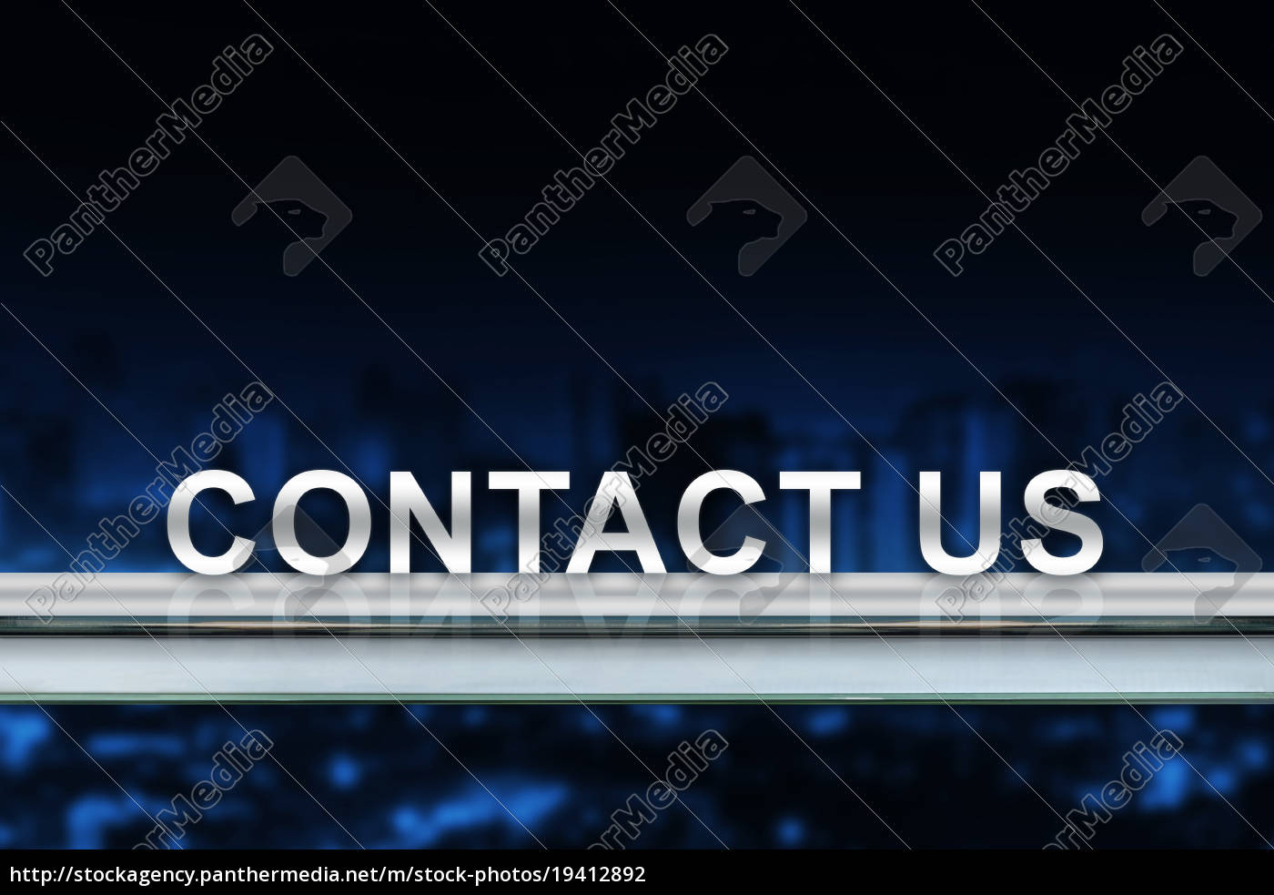 contact, us, on, metal, railing - 19412892