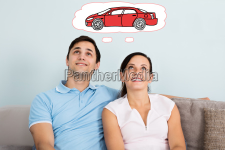 couple, dreaming, of, having, car - 19412284