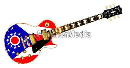 ohio state flag guitar