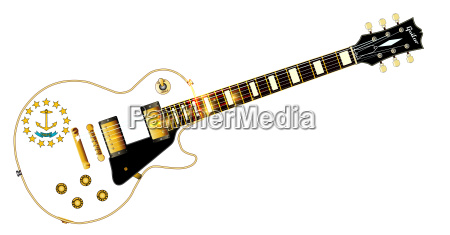 rhode island state flag guitar